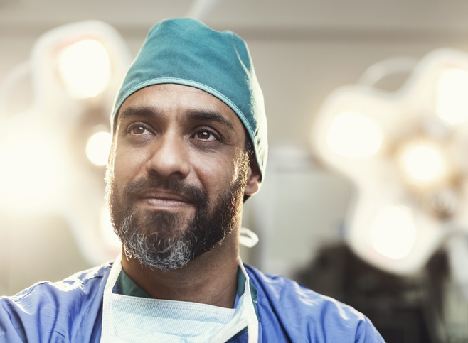Photo of an engaged looking doctor